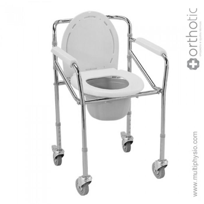 Cadeira de Duche e Sanitária de Alumínio com Rodas Orthotic