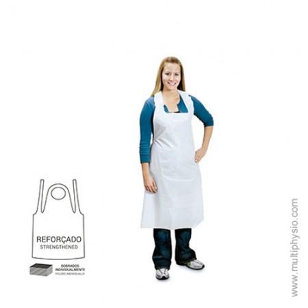 Avental Descartável Polietileno - branco | 50 unidades