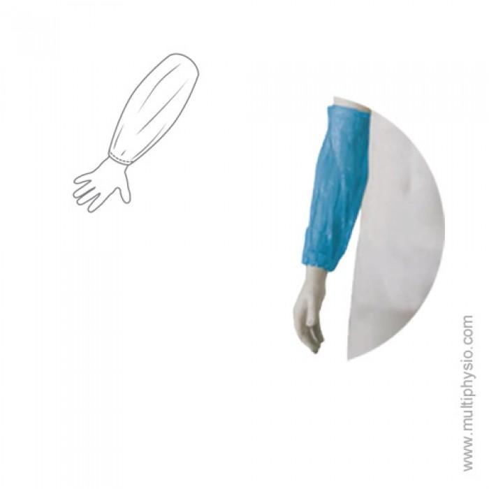 Manguitos em Polietileno Branco | 100 unidades