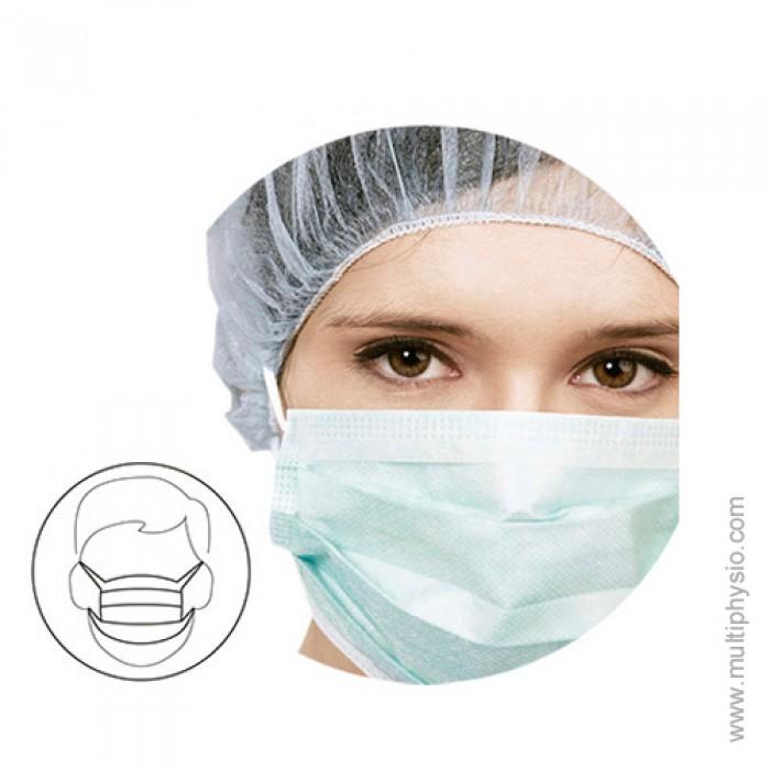 Máscara Cirúrgica 3 dobras | Com elástico - 50 unidades