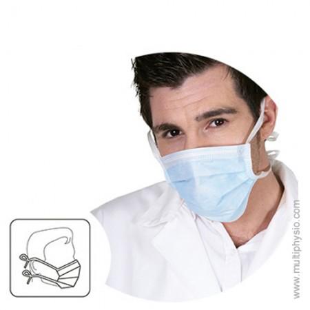 Máscara Cirúrgica PP 3 dobras | Com tiras - 50 unidades